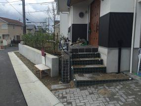 里山住宅博街区工事の28号地。残すは植栽工事と仕上工事です。
