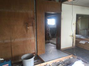 神戸市須磨区の改修工事の現場